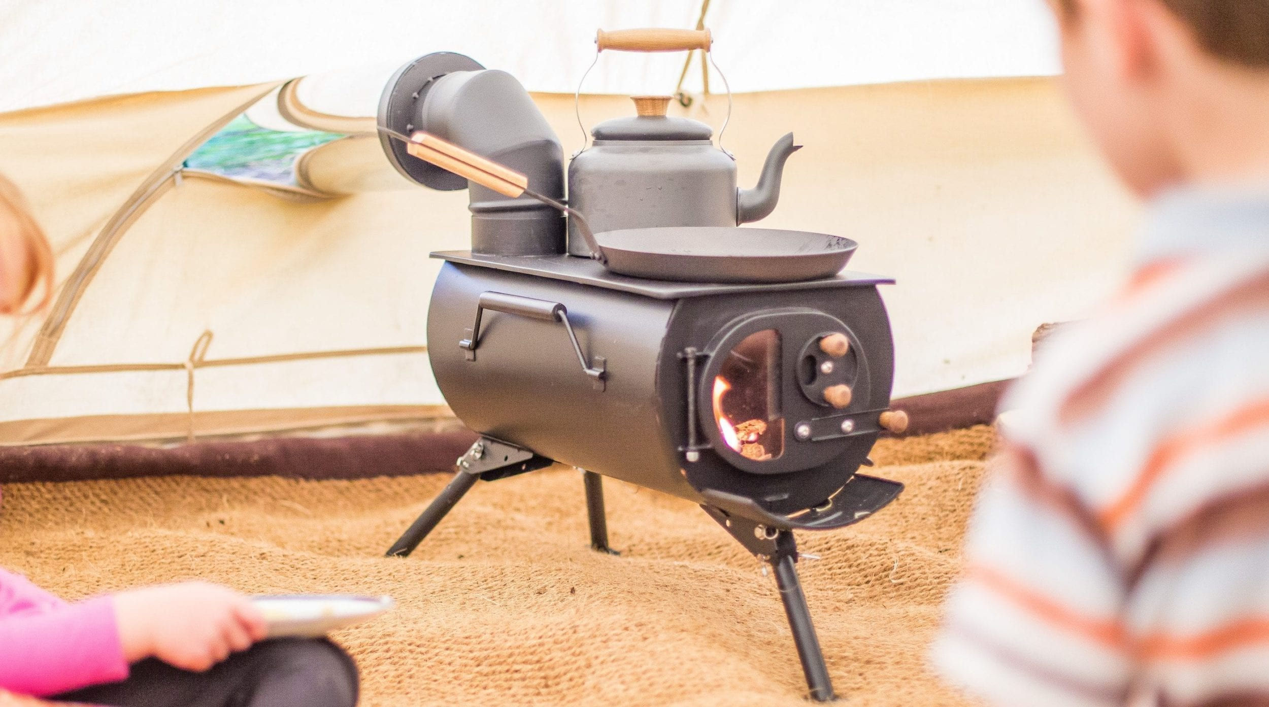 Woodburning Stove for Bell Tents, Tipis & Cabins